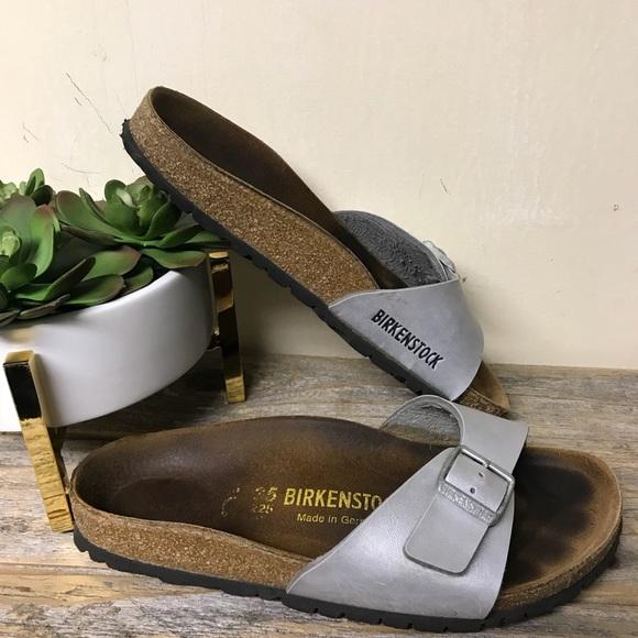 c572c582b2f4 Birkenstock Shoes - Birkenstock Silver Sandals 35